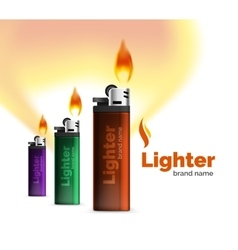 lighter ad template with orange blaze vector image
