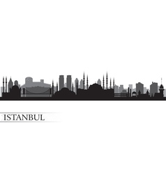 Istanbul City skyline detailed silhouette vector image