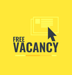 A free vacancy with the vector