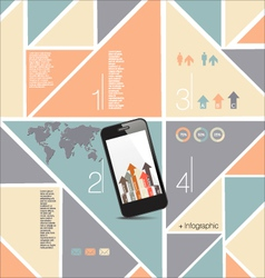 Infographics modern design background vector