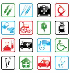 icon set medicine vector image