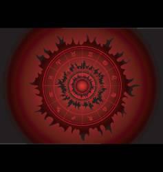 zodiac black sun vector image