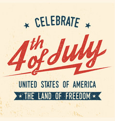 4th of july design in retro style vector
