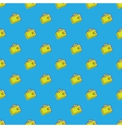 Wallet icons seamless pattern financial vector