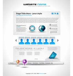 webpage vector image
