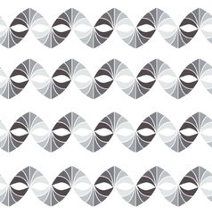 Retro geometric seamless pattern in grey vector