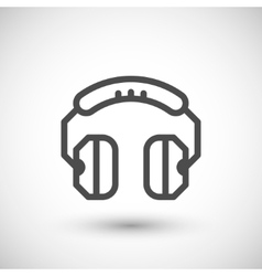 Headphones line icon vector