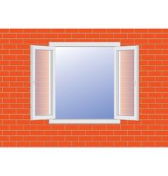 Window in wall vector