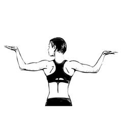 Aerobics woman vector