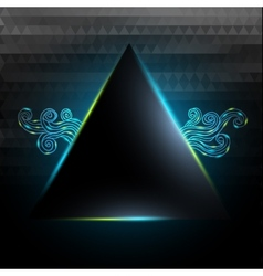 Black triangle with lights and doodle vector