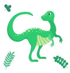 cartoon dinosaur seamless vector image