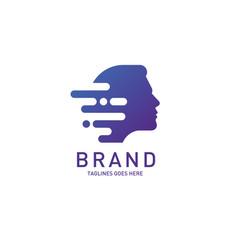 Creative man head logo brain vector