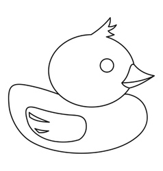 Duck icon in outline style vector image