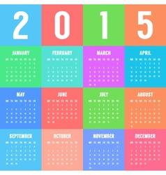 european colorful calendar of 2015 year vector image