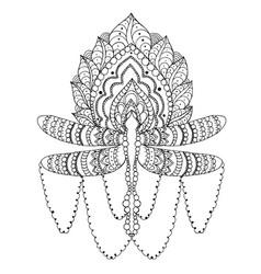 fantasy dragonfly vector image vector image