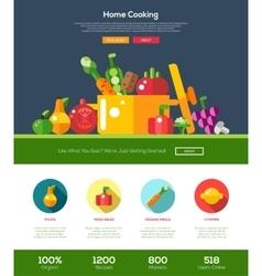 Flat design fruits and vegetables website header vector image vector image