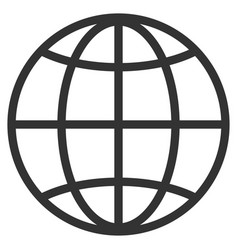 globe flat icon vector image vector image