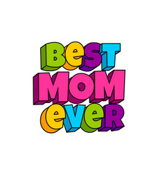 Greeting card for mommy mom mother vector