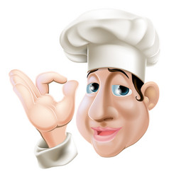 Happy chef doing okay gesture vector