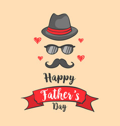 Happy father day design collection vector