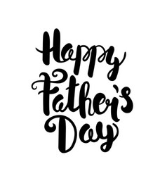 happy fathers day lettering logo greeting card vector image vector image