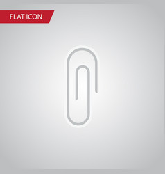 isolated clip flat icon fastener page vector image vector image