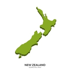 Isometric map of New Zealand detailed vector image vector image