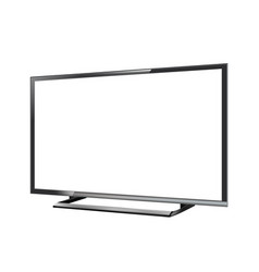 led tv screen blank on white background vector image vector image