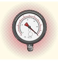 Manometer measuring device comic book vector