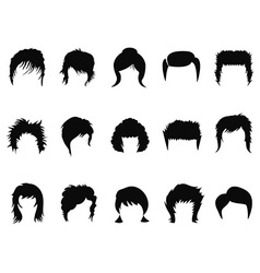 men and women hair styling collection vector image vector image