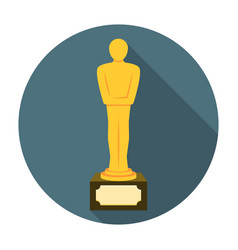 Movie award flat icon vector