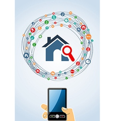 Real estate icons generic smart phone vector