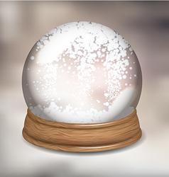 Snowdome vector image vector image