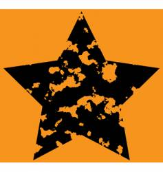 star on orange background vector image