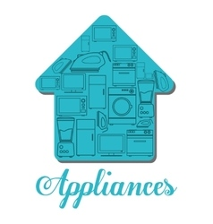 Technology home appliances design vector image