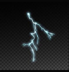 thunderbolt or lightning visual effect for design vector image