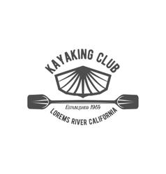 Vintage rafting label badge or logotype vector