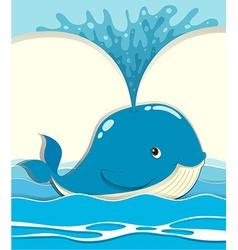 Whale splashing water out vector image vector image
