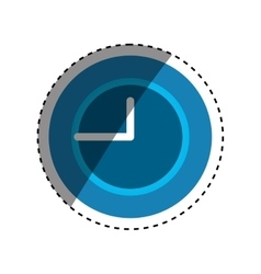 Time clock concept vector