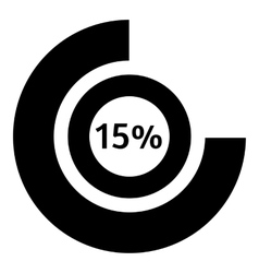 Fifteen percent download icon simple style vector