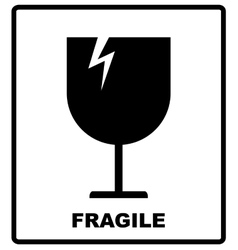 Breakable or fragile material packaging symbol vector