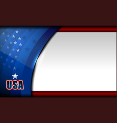 American flag background design vector