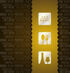 Restaurant menu presentation in brown background vector