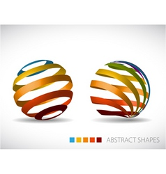 Collection of abstract spheres vector
