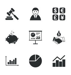 Money cash and finance icons handshake sign vector