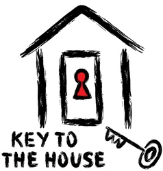 Key to the house vector