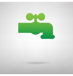 The water faucet sign green icon vector