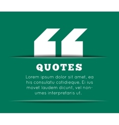 Quote blank template on white background vector image
