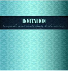 Sea theme invitation vector