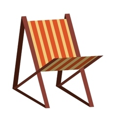 Colorful beach seat graphic vector